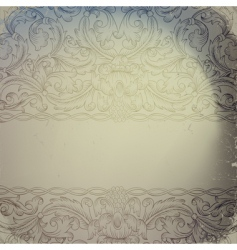vintage ornamented vector image vector image