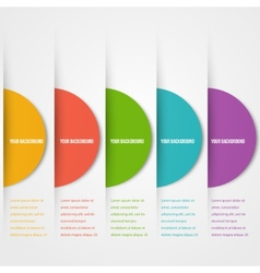 Abstact circles template Color icon vector image vector image