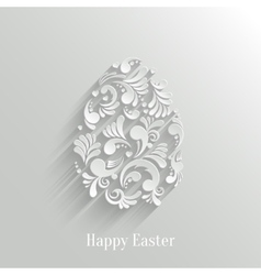 Abstract background with floral easter egg vector