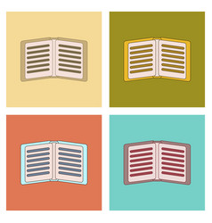 assembly flat icons school notebook vector image