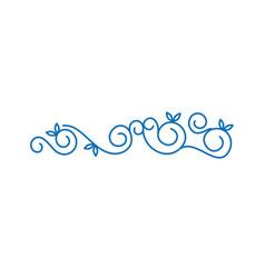 decorative swirl lines vector image