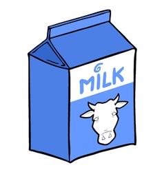 milk box design vector image