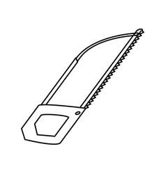 saw tool object vector image