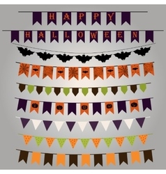 Flags and ribbons for Halloween vector image
