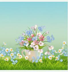 floral landscape vector image vector image
