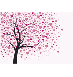 Heart tree design vector image
