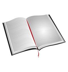 Open book vector image