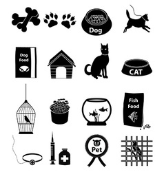 Pets icons set vector image