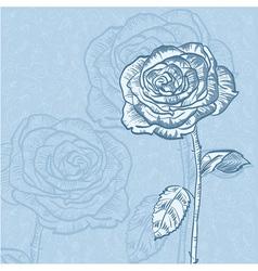 Valentine flower invitation floral vintage card vector image vector image