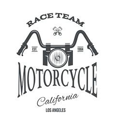 Custom motor t-shirt print design vector image