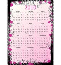 European calendar 2010 vector image vector image