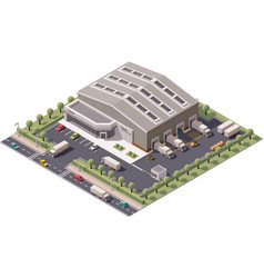 isometric warehouse vector image vector image