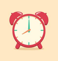 red analog alarm clock school supplies vector image vector image