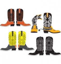 shoes cowboy vector image