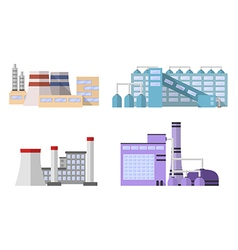 1 factory color 3 vector image