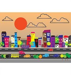 200715 City landscape vector image