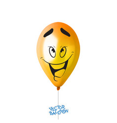 3d realistic colorful balloon with face in some vector