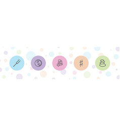5 harmony icons vector