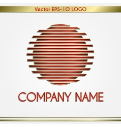 abstract company name red and gold round logo vector image