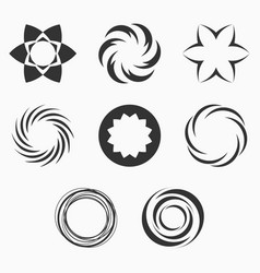 abstract geometric shapes symbols for your design vector image