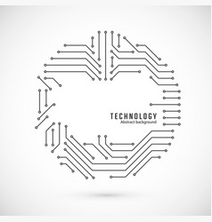Abstract technology background print circuit vector