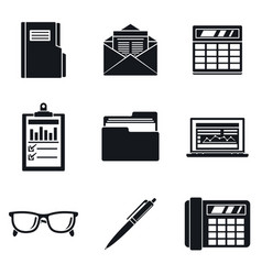 accounting day icon set simple style vector image