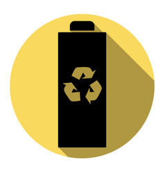 battery recycle sign flat vector image
