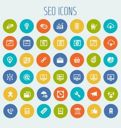 Big seo icon set vector