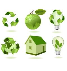 big set ecology econs vector image