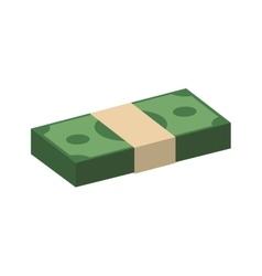 Bills money financial item value icon vector