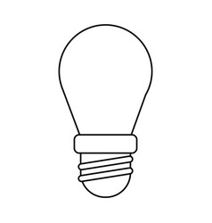 bulb lamp light environment thin line vector image
