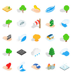 Calamity icons set isometric style vector