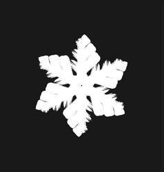 chunky marker snowflake vector image