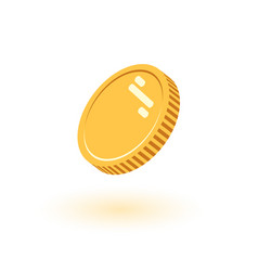 coins icon flat finance heap vector image