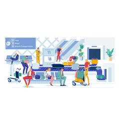 Convenient baggage claim serviceable tape vector