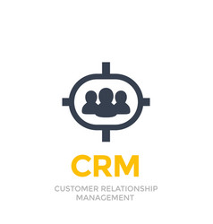 crm customer relationship management icon vector image