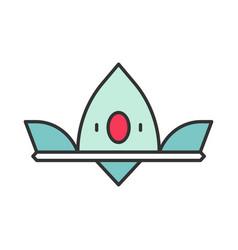 crown queen color icon vector image