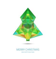 Crystal chrismas tree - hipster modern triangle vector