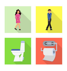 Design wc and washroom logo set wc vector