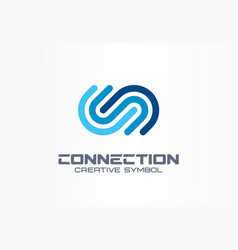 digital connect creative symbol concept community vector image