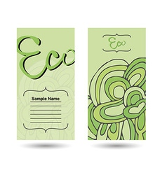 Eco business card vector
