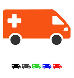 Emergency van flat icon vector