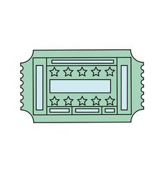 entertainment ticket icon vector image