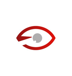eye optic monitor logo vector image
