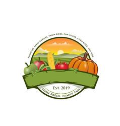 Farm logo design vector