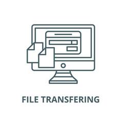 file transfering line icon linear concept vector image