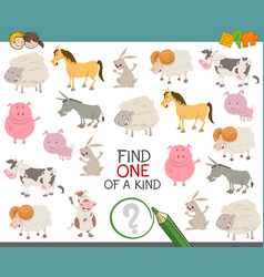 Find one of a kind for children vector