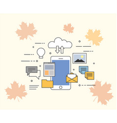 Flat of cloud for smartphones vector