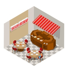 Food court vector image