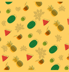 fruits pattern background vector image